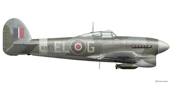Hawker Typhoon MK IB, Denis Crowley-Milling, Spring 1943