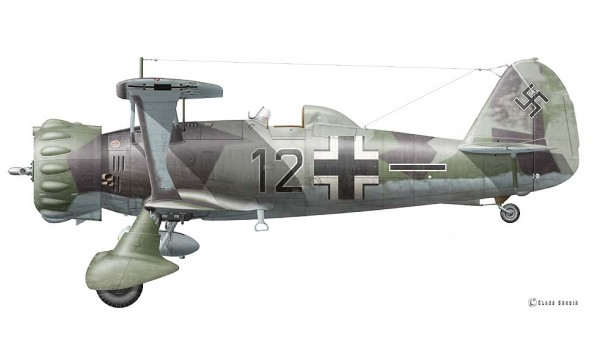 Henschel Hs 123 A-1, Black 12 of 5.(Schl)/L.G. 2, Cambrai/France, 21 May 1940