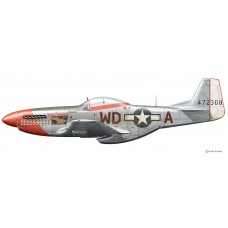 North American P51D Mustang, Pierce McKennon, Spring 1945